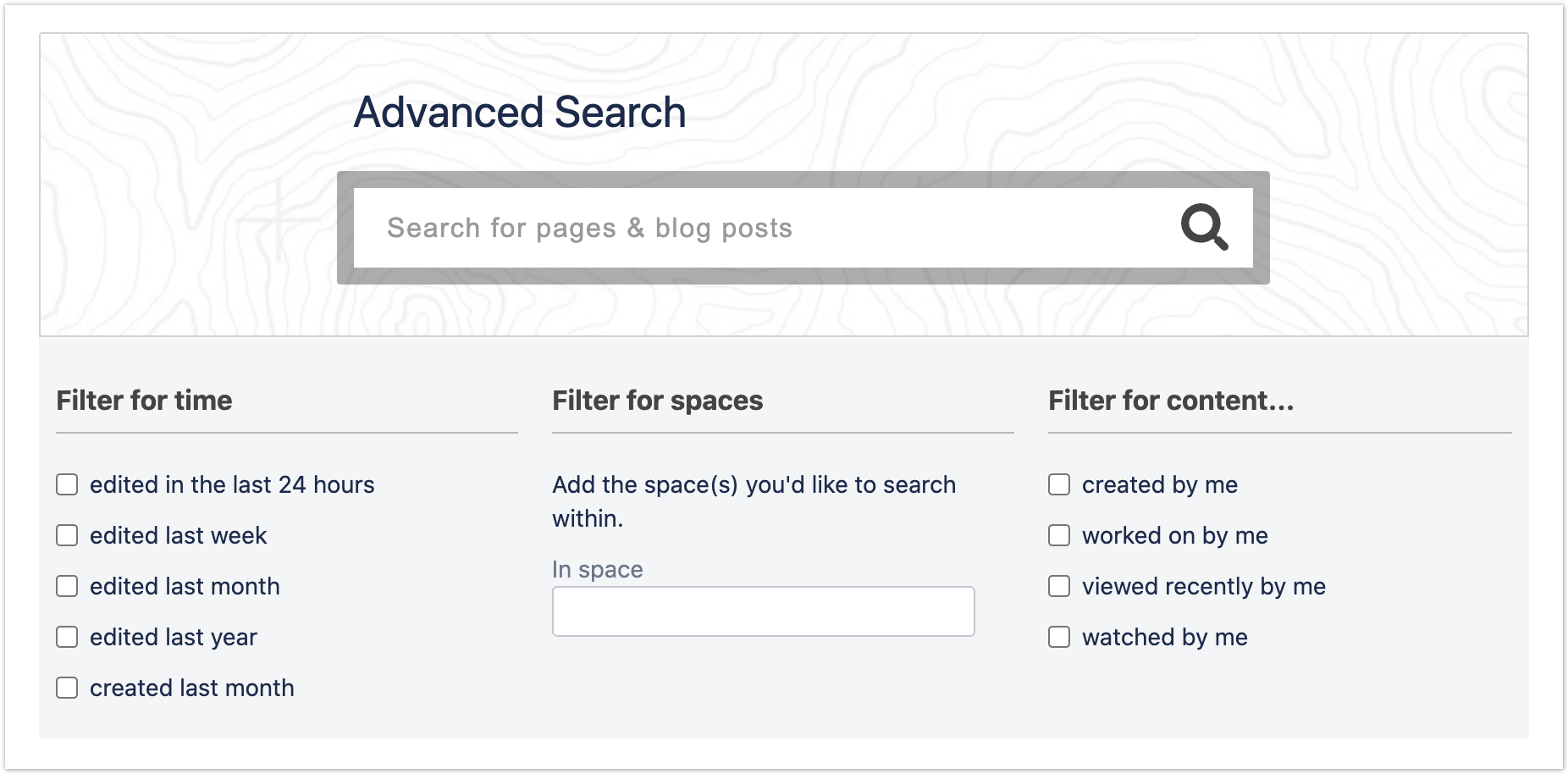 A fully customised Advanced Search box
