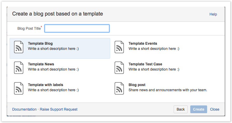 templates for blog posts templates for blog posts confluence