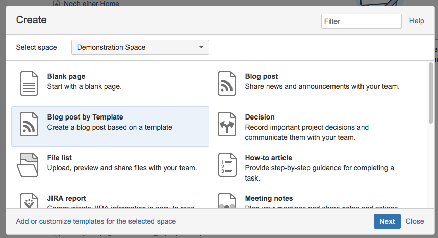 Templates for blog posts add on templates for blog posts for Confluence blog post template
