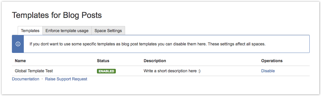 Disable templates for blog posts templates for blog for Confluence blog post template